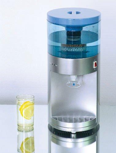 Deluxe - Dispensador Purificador y Enfriador de Agua Fría/Tiempo con Filtro de Carbono de 4 Capas - con depósito