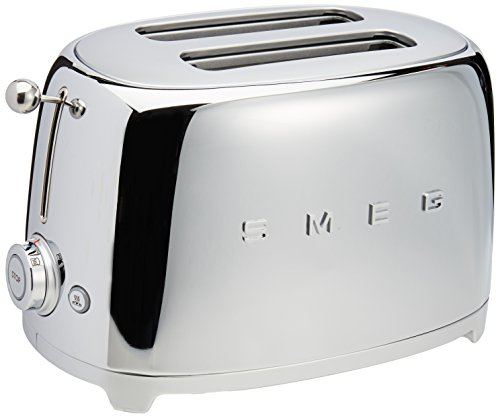 Smeg 2-Slice Toaster-Chrome