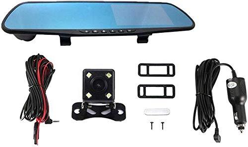 iSunday spiegel, dubbel dashboard, cam, LCD DVR video, dashboard, camcorder, 1080P FHD-camera, voorste achterkant, dubbele band, lens, rij-recorder