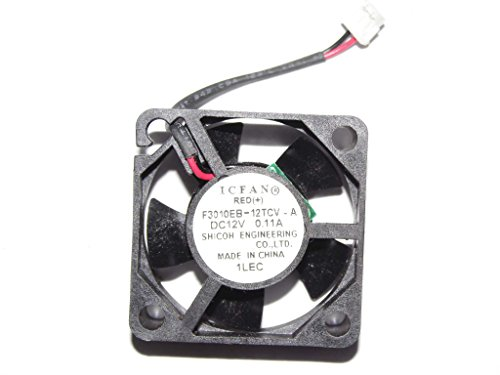 ComponentWarehouse Compatible for Delta Electronics ICFAN Server Blower Replacement 30MM Cooling Fan Fits for DC12V 0.14A 2 Wire 2 Pin