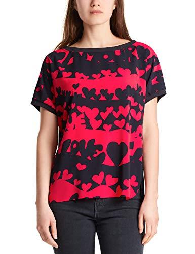 Marc Cain Sports T-Shirts T-Shirt, Multicolore (Midnight Blue 395), 42 (Taglia Produttore: 2) Donna