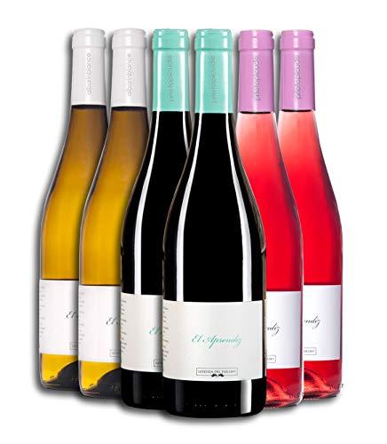 Vino Tinto (x2ud) + Vino Rosado (x2ud) + Vino Blanco (x2ud) - Leyenda del Páramo - El Aprendiz - Vino Premiado - Caja de 6 botellas de 75 cLitros