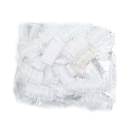ZREAL Lot de 100 cache-oreilles en plastique transparent imperméable