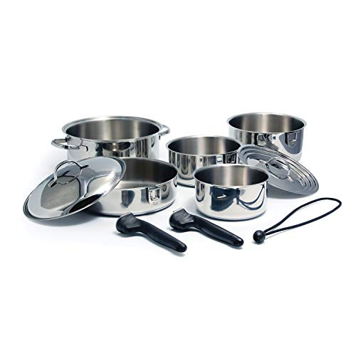 Camco Stainless Steel Nesting Cookware Set