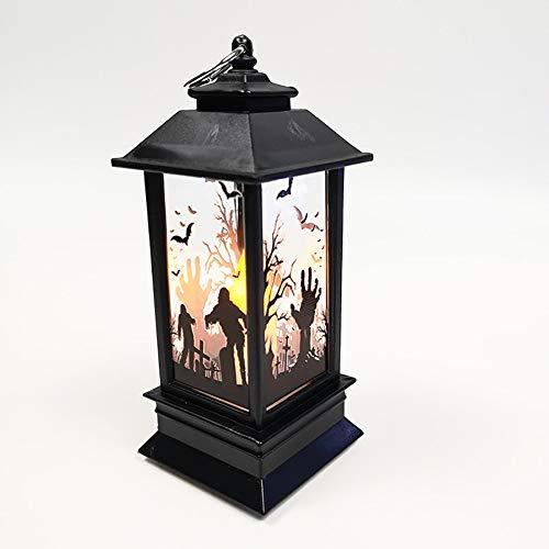 Romsion Home Voor Halloween Simulatie Vlam Kaars Licht Draagbare LED Kleine Nacht Vuurtoren Decoratieve Props