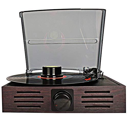 Mnjin Vinyl Schallplatte Retro Sound Vintage Grammophon Einkommen Multifunktions-Plattenspieler Ornamente