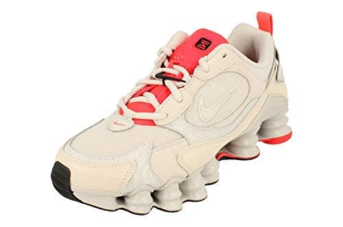 Nike Wmns Shox TL Nova, Zapatillas para Correr Mujer, Vast Grey/Vast Grey/Laser Crimson/White, 39 EU