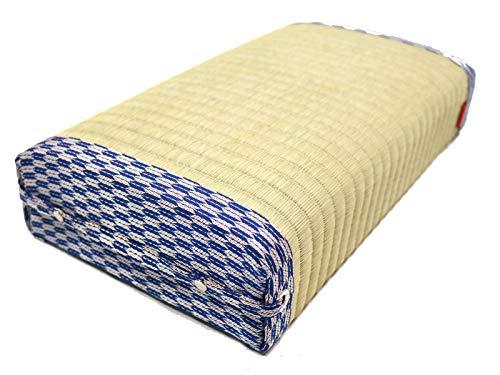 【父の日ギフト】座椅子 和 国産畳表 ローテーブル最適 腰痛・膝痛解消 ごろ寝枕 【座・あぐら】長崎畳職人の手作り (青矢柄)