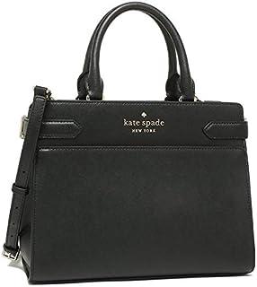 حقيبة كتف صغيرة ومتوسطة الحجم من كيت سباد، مصنوعة من الجلد الأسود