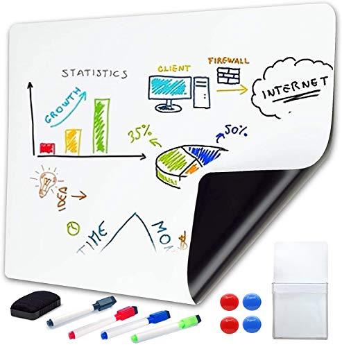 ホワイトボード シート マグネットシート 磁石もくっつく 壁に貼れて 伝言 メッセージ (40*90CM)