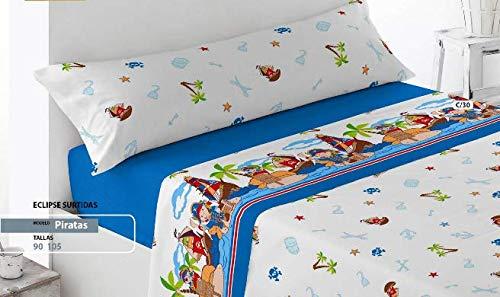 Energy Colors Textil - Hogar - Atlanta - Juego Sábanas Estampada Infantil Cama 90 Verano...