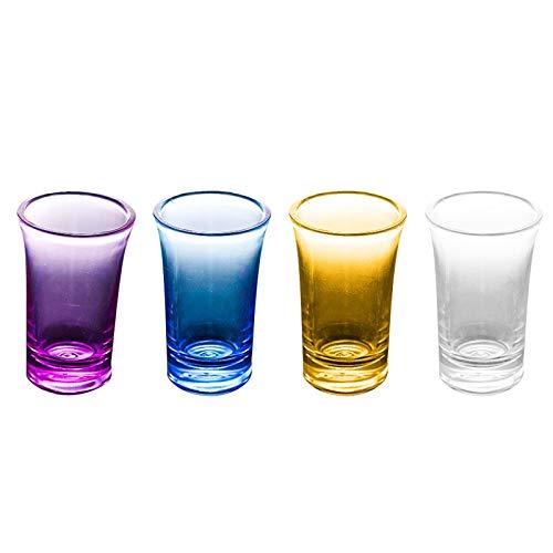 MARIJEE Copas de vino de acrílico sin tallos y vasos de agua, hechos de plástico acrílico inastillable, copas de vino y vasos de agua, ideales para uso en interiores y exteriores, reutilizables.