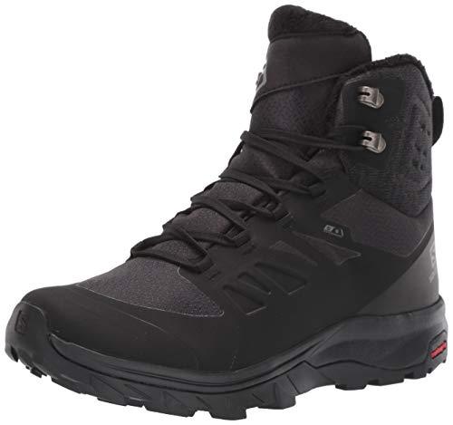 Salomon Women's Outblast TS CSWP Snow Boots, Black/Black/Black, 8.5