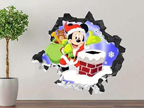 MXLYR Pegatinas de pared Etiqueta de la pared de la aventura de la rata Smashed 3D Art Sticker Vinilo