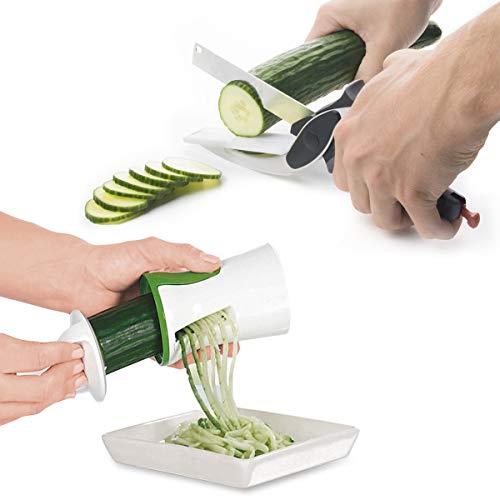 Cortador De Legumes Verduras Espiral Tesoura Faca Fatiador