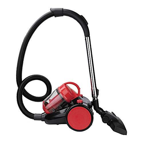 BMOT 3L staubsauger beutellos,900 Watt Bodenstaubsauger mit hocheffizienter Hepa-Filter fur Entfernen von Tierhaaren, handlich, leise Rot