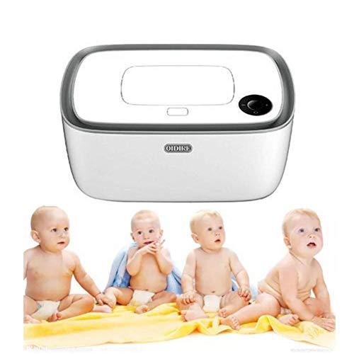 shewt Tücherwärmer,Baby-Feuchttuchwärmer, Feuchttüchter Aufbewahrungsbox,Oberheizung, LED-Echtzeit-Temperaturanzeige,Wärmt die feuchttücher