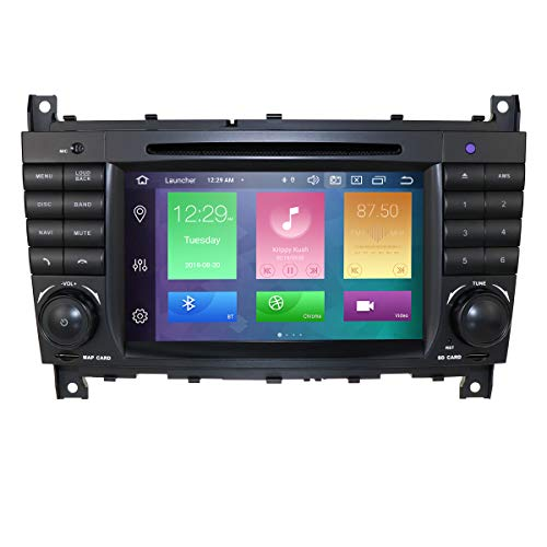 hizpo Android 10 Auto DVD Car Audio Stereo für Mercedes Benz C-Klasse W203 2004-2007 CLC W203 2008-2010 CLK Klasse W209 2005-2011 Unterstützung GPS Navi, DAB +, BT, RDS Radio, SWC, 4G WiFi