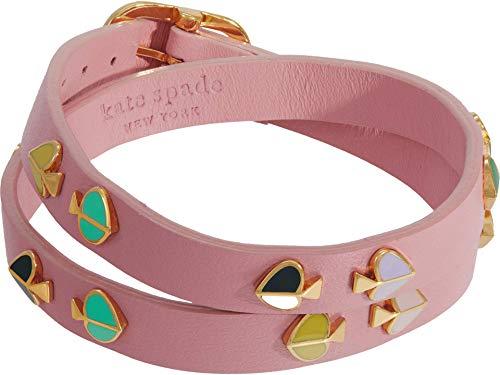 Kate Spade New York Heritage Spade Double Wrap Leather Bracelet Pink Multi One Size