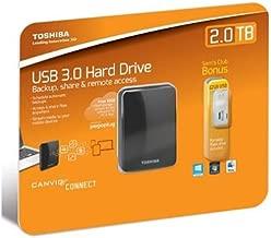 Toshiba Canvio Connect Portable External Hard Drive 2TB with USB 2.0 Flash Drive 32GB
