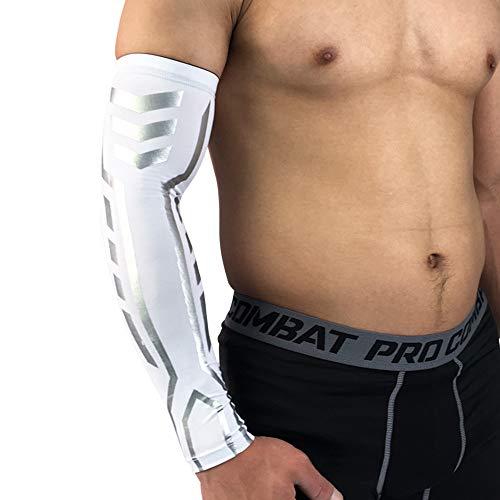 Shineshae Arm Sleeve Sports Compression Arm Sleeves 1Pc Sport Kompressions Armbandagen Unisex UV-Schutz Armlinge für Ball -Ausdauersportarten zur Stärkung der Muskulatur, Armstulpen