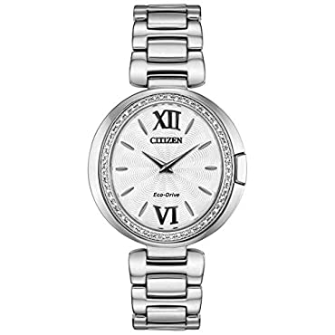 Ladies' Citizen Eco-Drive Capella Diamond Stainless Steel Watch EX1500-52A