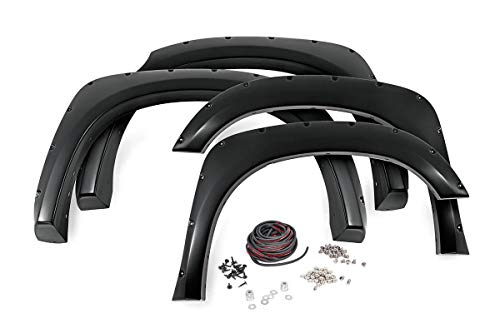 Rough Country Pocket Fender Flares (fits) 2014-2020 Tundra | Unpainted | Rivet Bolt On Style | F-T11411