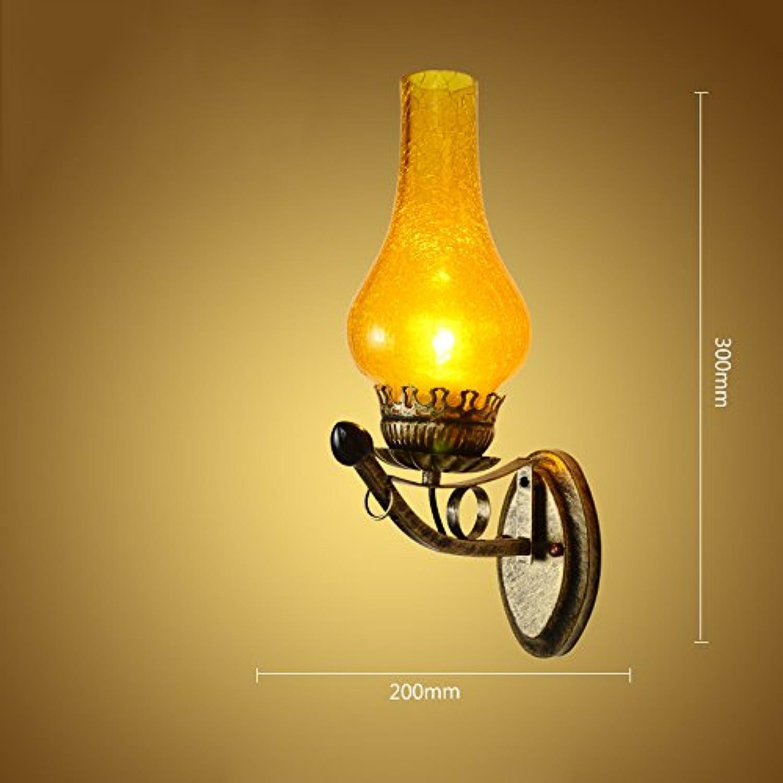 ASL Retro Eisen Wand Lampe, Restaurant Lampe Wohnzimmer Wand Lampe Bar Aisle Dekorieren Study Lampe Treppenhaus Balkon Lampe Wandleuchte E27 Creative Engineering Lampen Neu (gre   20  30CM)