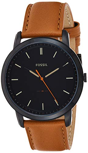 Fossil Herren Analog Quarz Uhr mit Leder Armband FS5305
