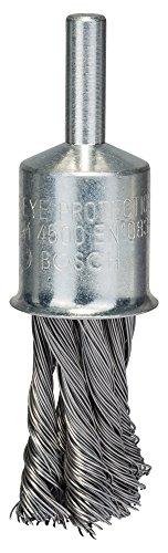Bosch Professional Pinselbürste, Stahl, gezopfter Draht, 0,35 mm, 19 mm, 4500 U/ min, 2608622116