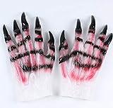Bearony Halloween Látex Werewolf Horror Prop Glove Horror Show Werewolf Gloves (1Pair)...
