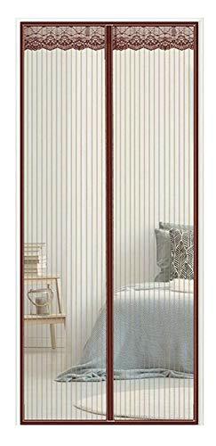 AMZERO Magnet Fliegengitter Tür Balkontür, 75x270cm(30x106inch) Insektenschutz Fliegengitter FüR Fenster Fliegenvorhang HäNde Frei für Balkontür Wohnzimmer Terrassentür, Brown