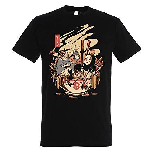 Pampling Ramen Pool Party - Totoro, Camiseta Hombre, Negro, XL