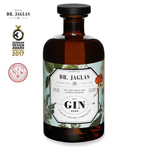 Dr. Jaglas Gin Seng | Wacholderbeer-Spiritus als Einzelflasche mit 500 ml | 50% Vol… - 3