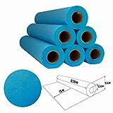 Papel de camilla Parafinado (caja de 6 unidades) de 0,60 x 65m (1,5kg) | Rollo Color Azul parafinado Sin Precorte