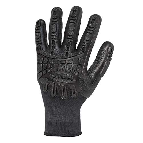Carhartt Men's Impact C-Grip Work Glove, Black, Large