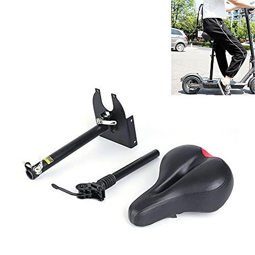 Sillín de bicicleta universal plegable para scooter eléctrico Xiaomi M365, color negro