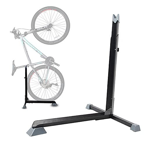 Planchar Soporte Suelo Bicicleta,Soporte Bicicleta Reparacion Ajustable, Ligero, Portátil Soporte Para Bici Suelo para 20' Bicicleta