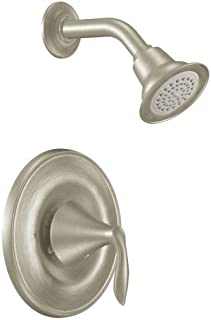 Moen T2132BN Eva One-Handle Posi-Temp Shower Trim Kit, Valve Required, Brushed Nickel