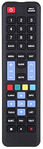 MultiKom - Telecomando sostitutivo universale Samsung e Lg TV, senza Smart LED TV, al plasma, Dispositivi digitali HIFI DVD Lettore Blu-ray HD DVB-S Ricevitore T2 C [Nero]