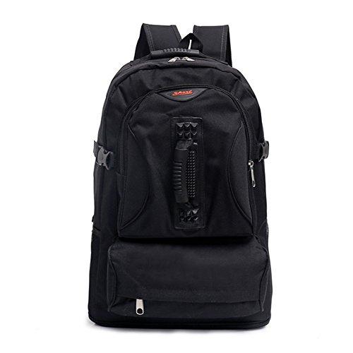 tellw más duradero Packable Práctico ligero mochila de viaje mochila, color Negro - negro, tamaño H:50CM/W:35CM/T:14CM