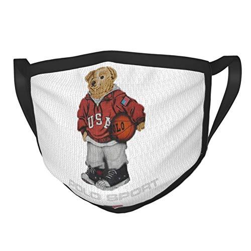 ZVEZVI Vintage Polo Bear Adult Black Border Maske, tragbarer Gesichtsschutz, Kopftuch, elastische Kante, Sturmhaube