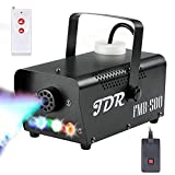Fog Machine JDR Smoke Machine Controllable LED Light 500W and 2000CFM Fog Disinfection with Wireless and Wired Remote Control for Weddings, Halloween,Parties or Disinfection,with Fuse Protection