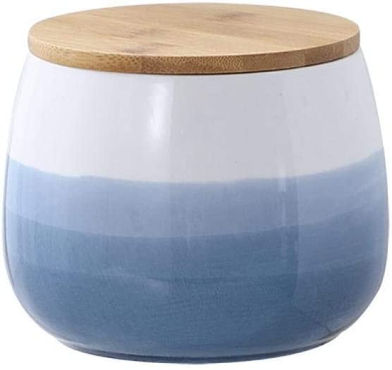 Food Storage Year-end gift Canister Round Ceramic Caniste Jars Kitchen Max 83% OFF Cookie