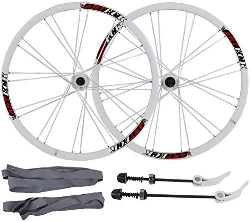 YSHUAI Juego de ruedas de bicicleta de 26 pulgadas, rueda de bicicleta...