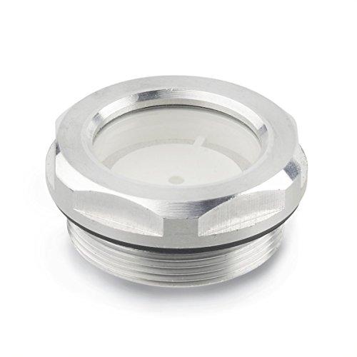 Ganter Normelemente GN 743-14-G1/2-A 743-14-G1/2-A-Ölschaugläser, silber, Zollgewinde d: G1/2, 2 Stück