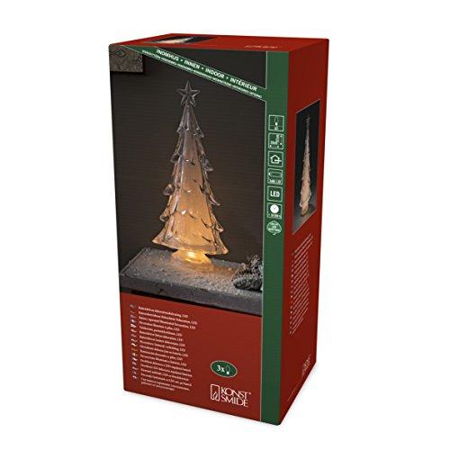 Konstsmide 2804–000LED acrilico albero di Natale/per interni (IP20)/3diodo bianco caldo/a batteria: 3X AA 1.5V (non incluse)