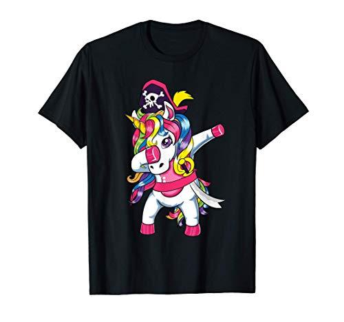 Unicornios Pirata Disfraz de Halloween 2020 Dabbing Unicorn Camiseta