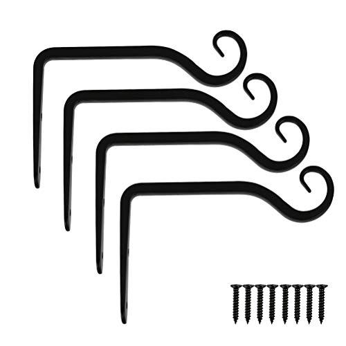 QLOUNI 4 Stück Pflanzenhalterung, Wandhalterung, Blumenampelhalter, Blumenampel Wandhaken, Hängepflanzen-Halterung für blumenampel, Windspiele, Laternen, Windspiele Wandleuchter