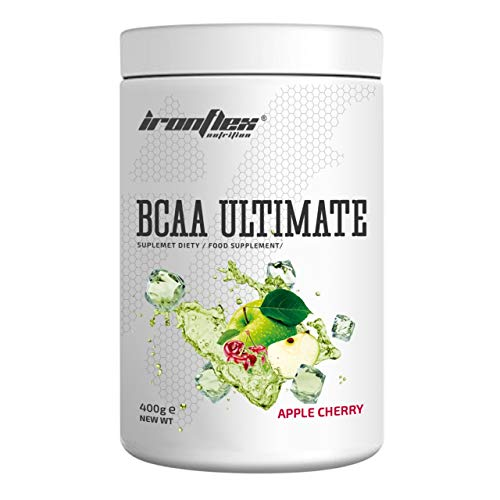 IronFlex BCAA Ultimate - 1 Pack - Branched Chain Amino Acids in Powder - Muscle Regeneration – Anticatabolic – Citrulline Malate (Apple Cherry, 400g)